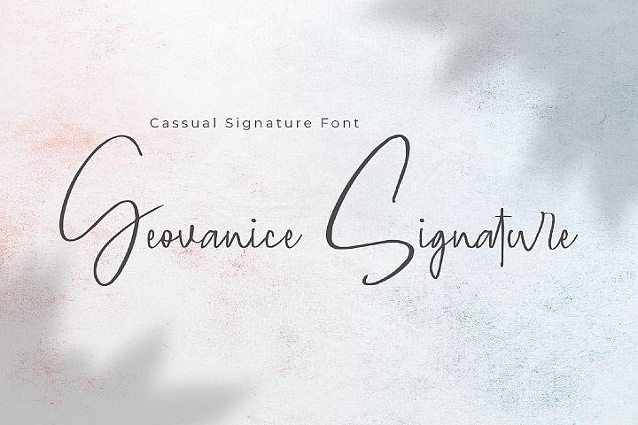 Geovanice - Casual Signature Font