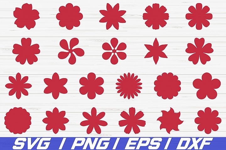 22 Paper Flower Template SVG Cut File / Vector / Clipart
