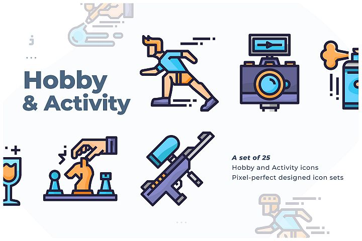 25 Hobby and Activity icon