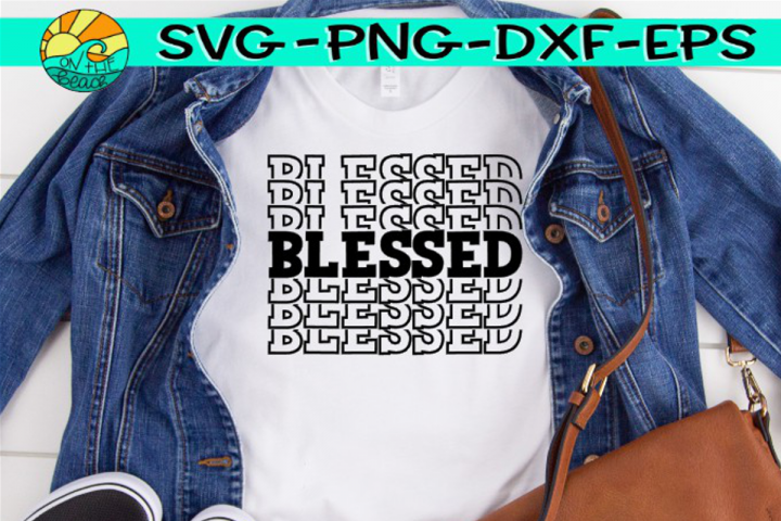 Blessed - Words - SVG PNG EPX DXF