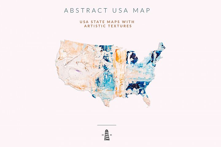 USA State Maps, 50 States Shapes