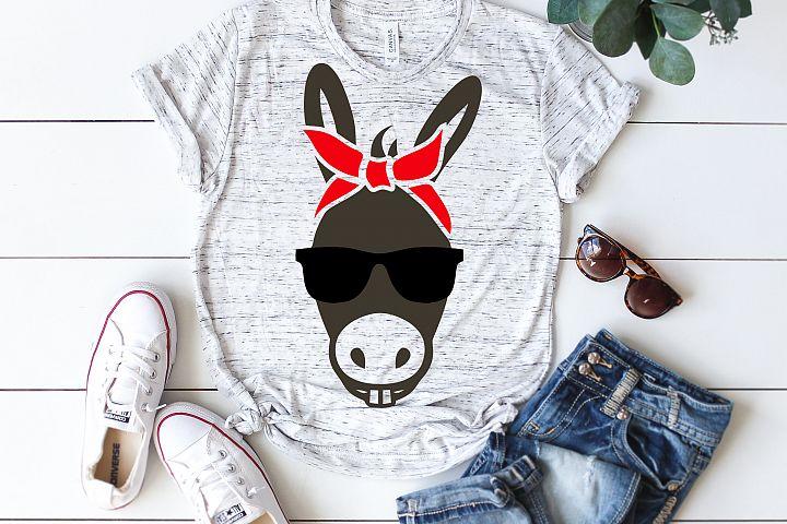 donkey face bandana