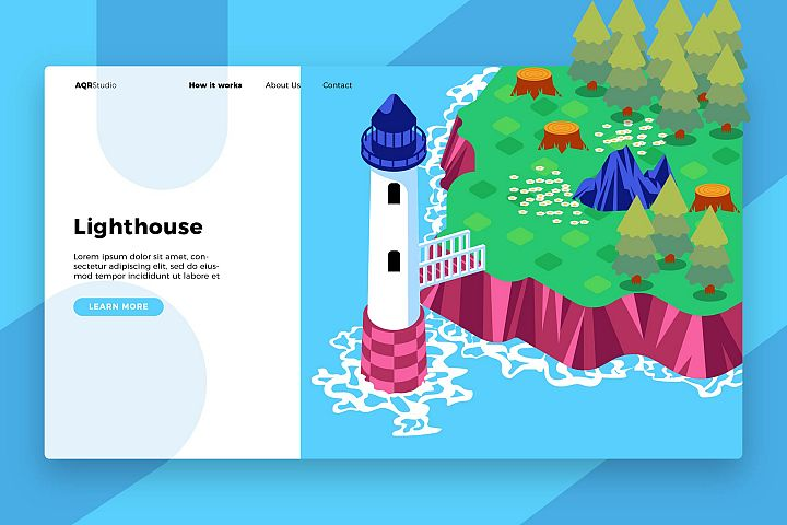 Lighthouse - Banner & Landing Page
