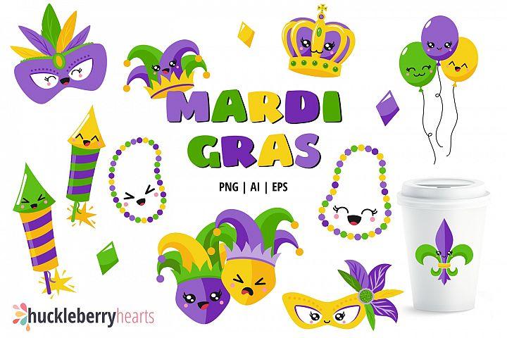 Kawaii Mardi Gras Clipart