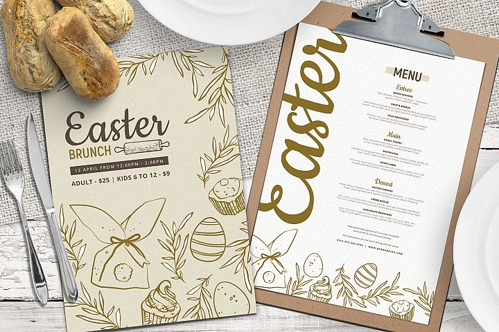 Easter Menu Template Vol.3