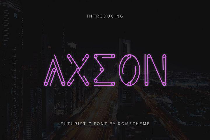 Axeon - Futuristic Typeface