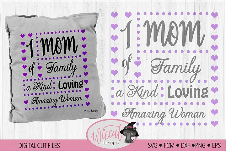 Mom pillow svg, mum word frame svg, digital cut file,