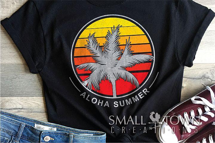 Aloha, Summer, Palm Tree, Aloha Logo, PRINT, CUT & DESIGN