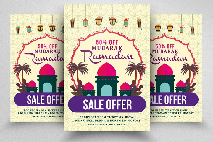 Ramadan Mubarak Sale Offer Template