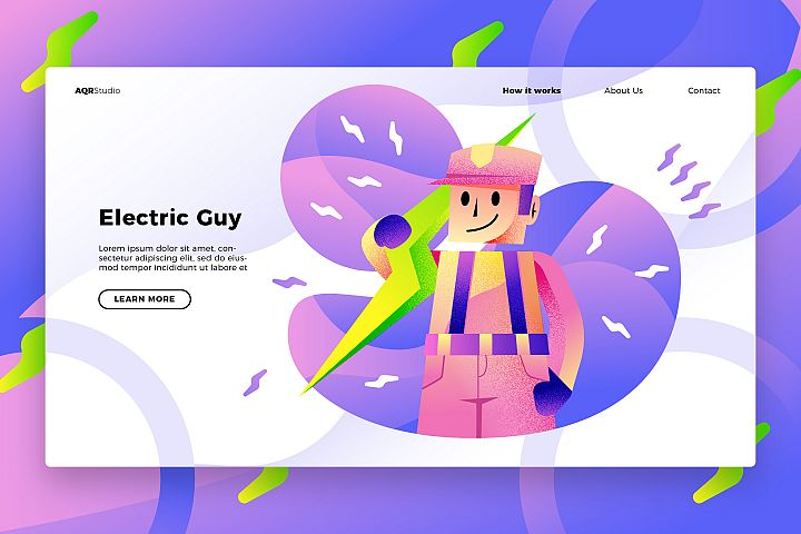 Electrician - Banner & Landing Page