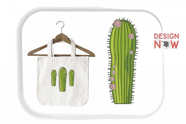Cactus Botanical Art, Flower Embroidery Design, Plant example image 5