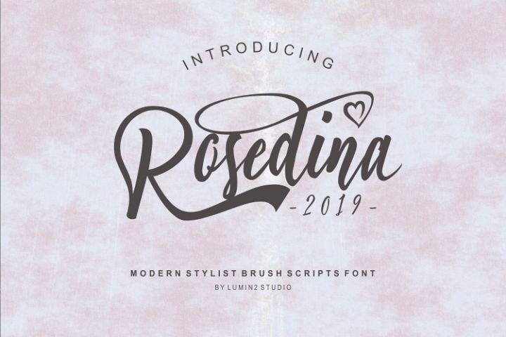 Rosedina - beautyful Stylist brush script