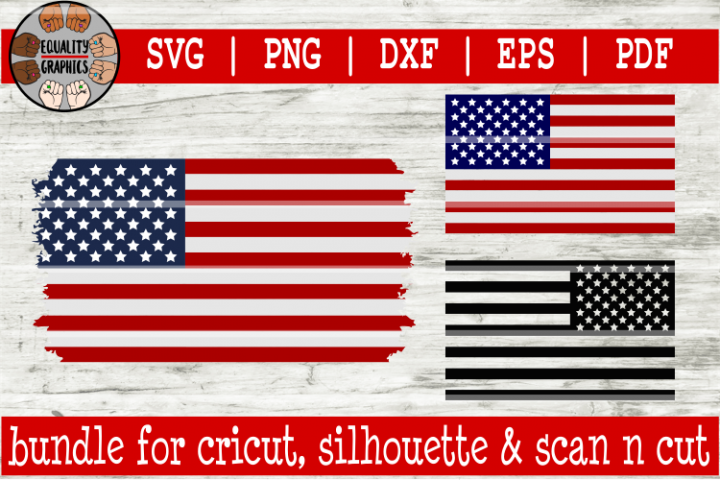 United States Flag Bundle SVG | DXF | EPS | PDF