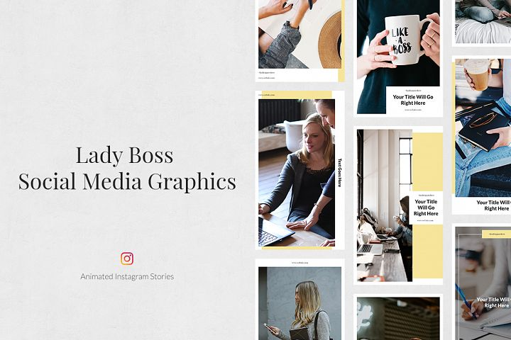 Lady Boss Animated Instagram Stories