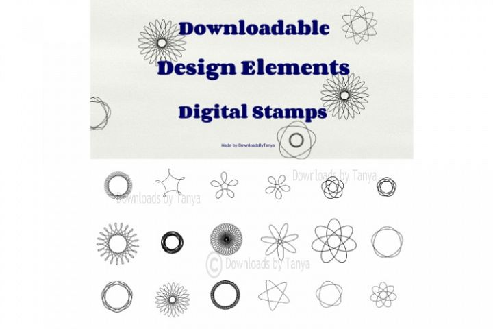 Digital doodles design elements