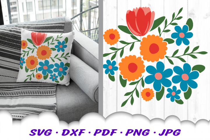 Flowers Botanical SVG DXF Cut Files