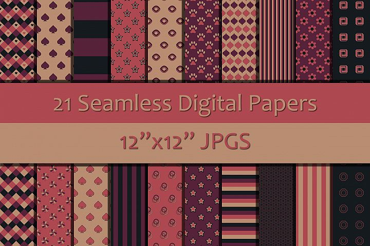 Shades of Pink/Purple/Black Seamless Digital Papers