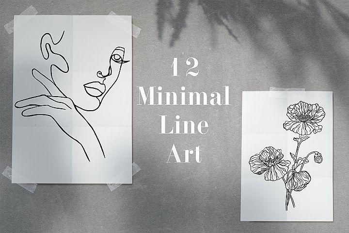 12 Minimal Line Art