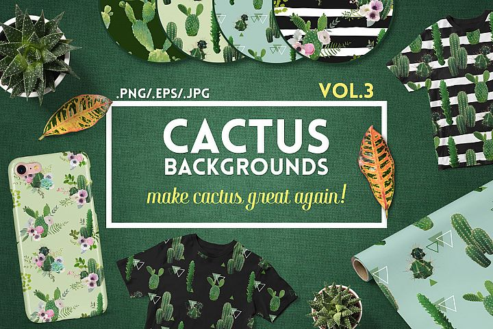 Cactus Floral Backgrounds
