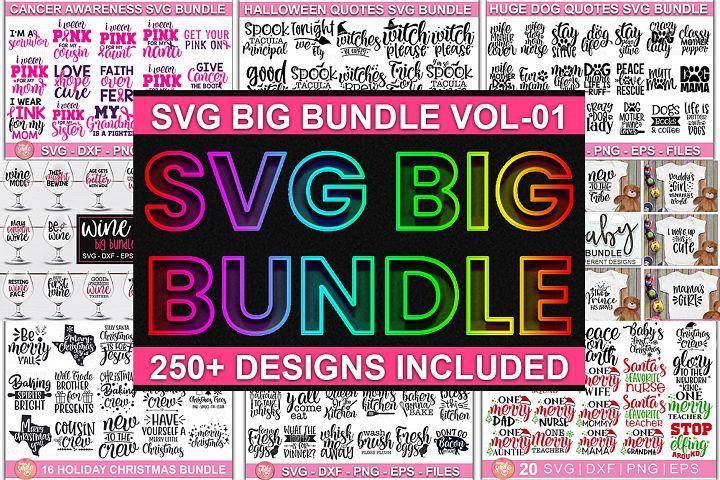 Mega SVG Cut File Bundle | Over 250 Cut File for Cricut