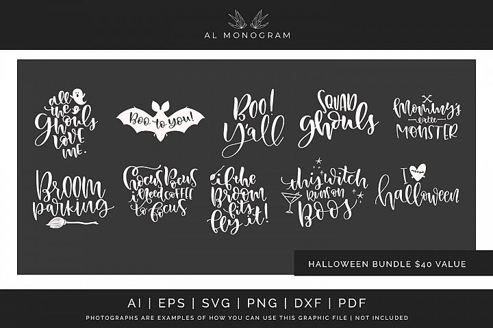 Halloween Bundle SVG Digital Laser Cut File