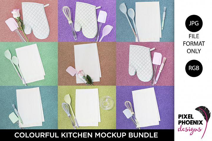 Colourful Kitchen Mockup Bundle