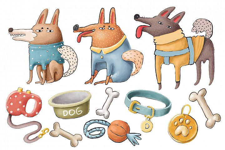 Doodle dogs set