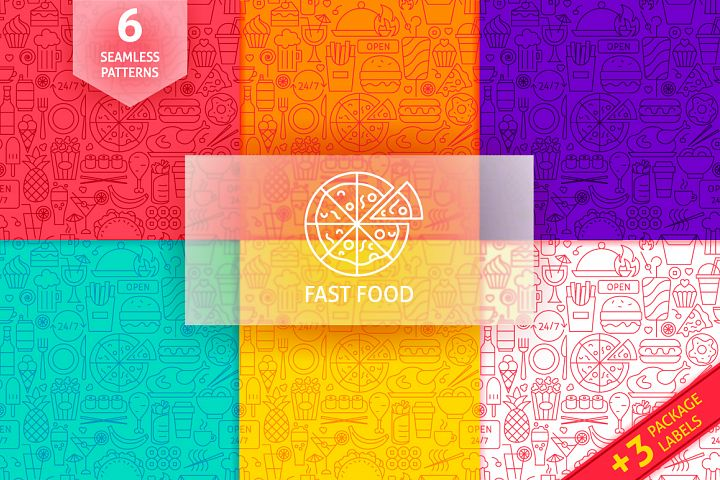 Fast Food Line Tile Patterns