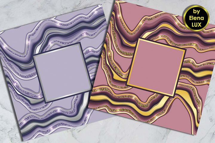 Marbling Square Template Set