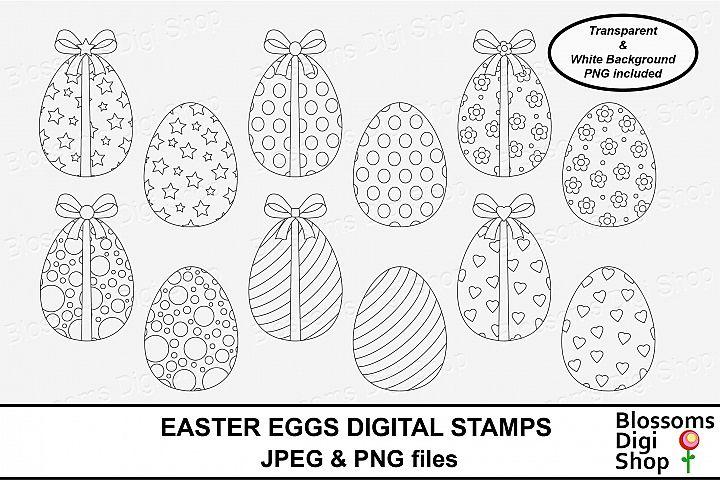 Easter Eggs Digital Stamps