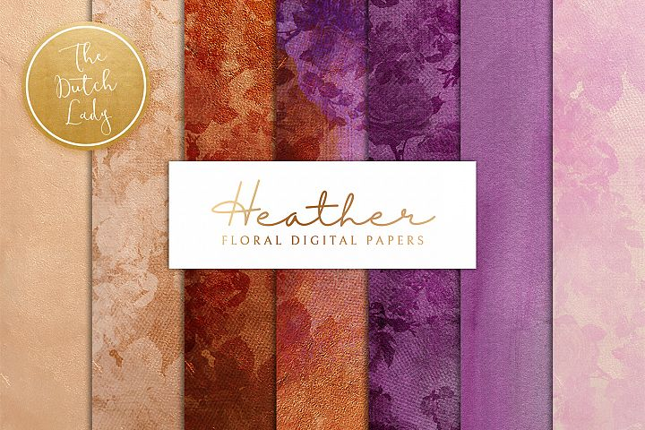 Floral Backgrounds & Paper Designs - Heather