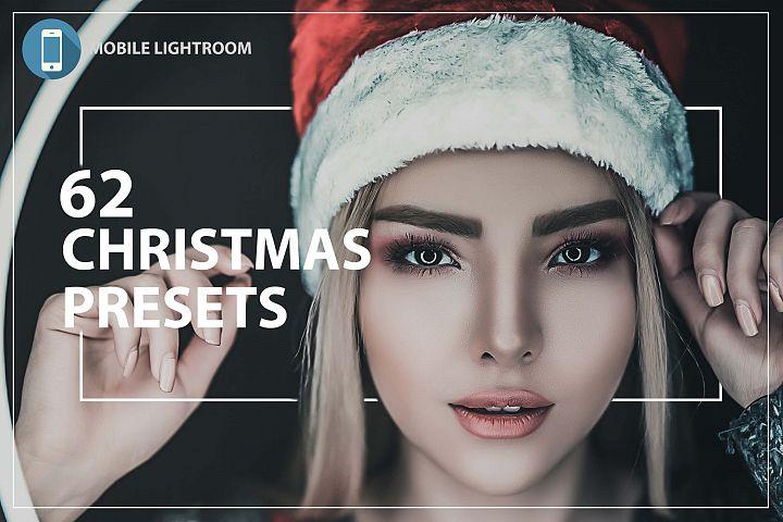62 Christmas Mobile Lightroom Presets, X-mas Adobe LR preset