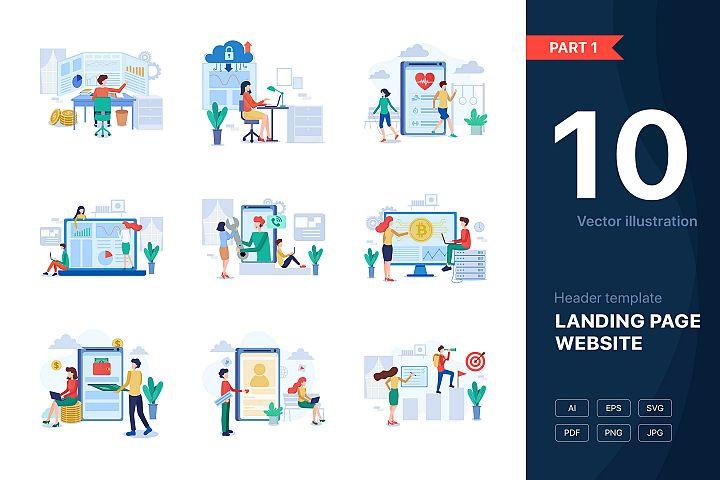 Website illustrations set - Part 01