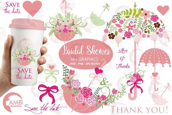 Umbrella Floral clipart, graphics, illustrations AMB-871