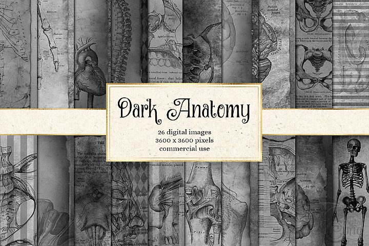 Dark Anatomy Digital Paper