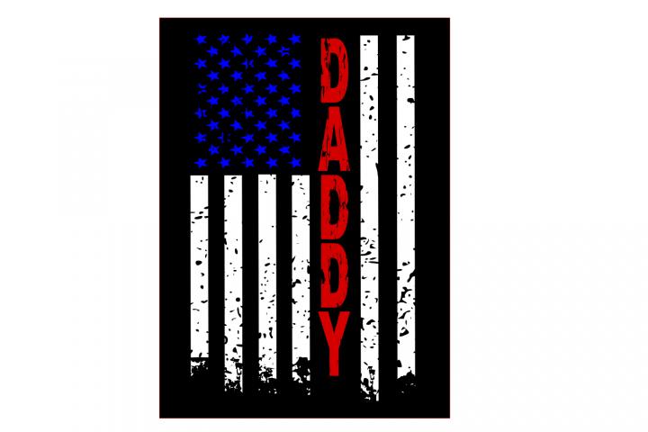 Daddy distressed flag SVG Cutting File