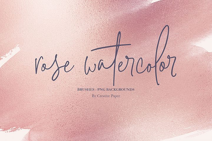 Rose Gold Watercolor Brushes PNG Backgrounds