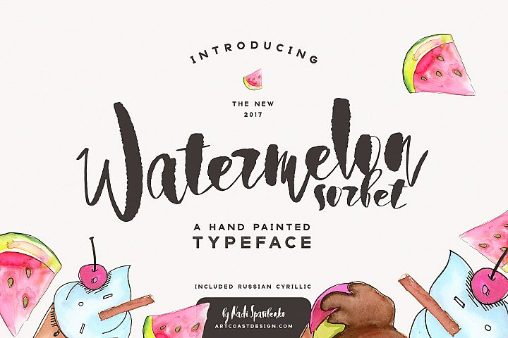Watermelon Sorbet Brush Script