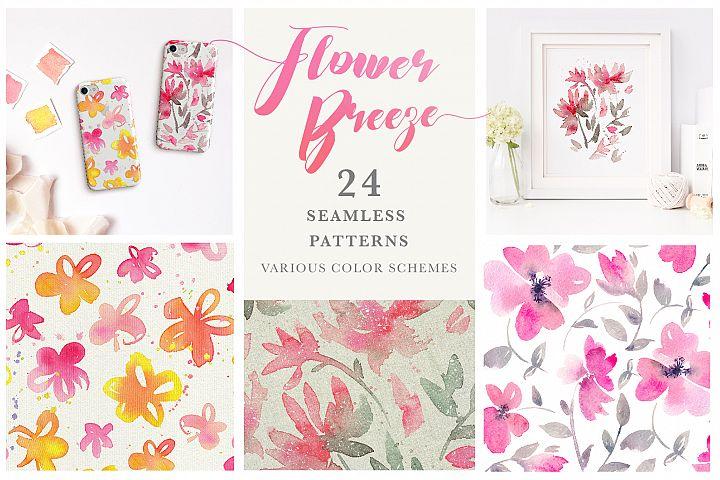 Flower Breeze - Seamless Patterns