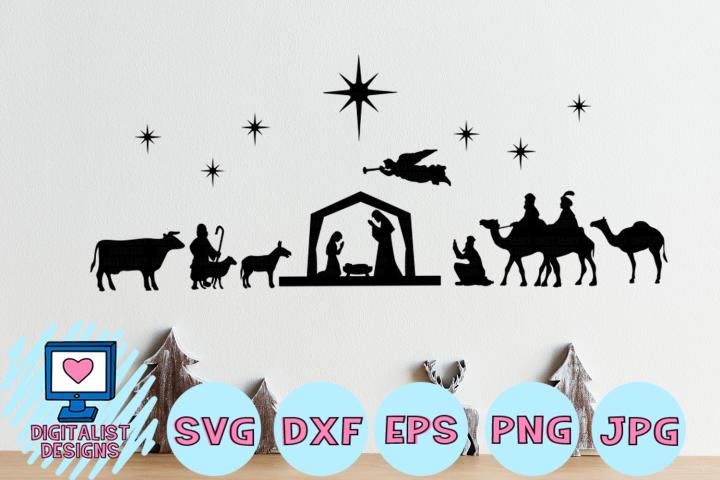Nativity Scene SVG