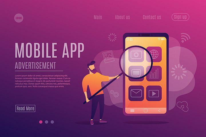 Mobile app. Advertisement