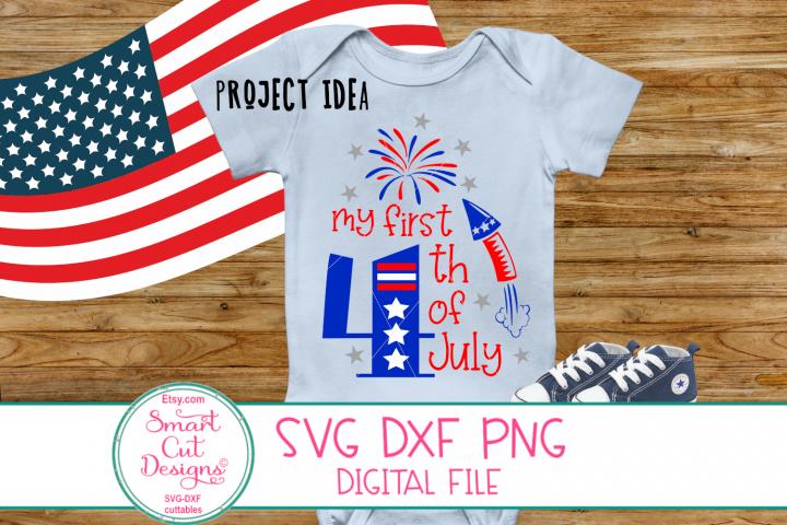 My First 4th Of July SVG, Fireworks SVG,Patriotic Kids SVG