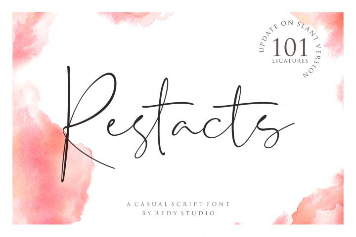 UPDATE SLANT VERSION | Restacts Script Font