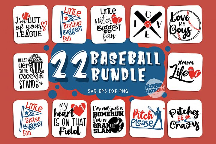 Big Baseball Bundle vol.2 - Baseball SVG Bundle