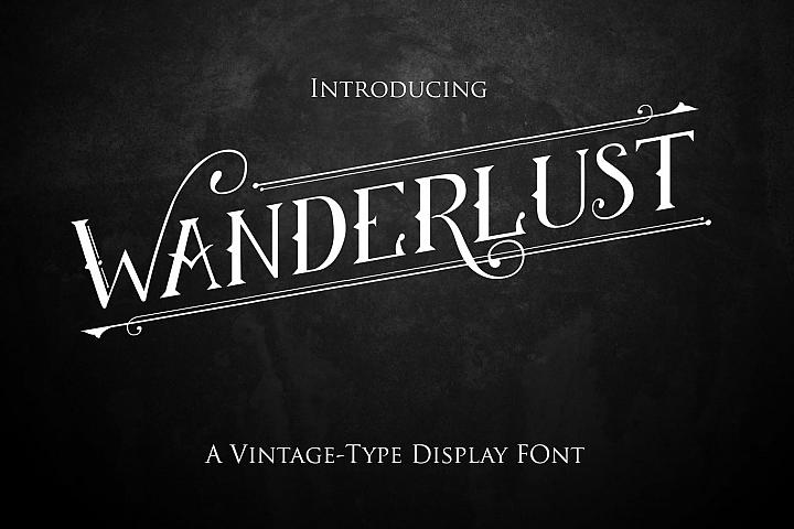 Wanderlust-a vintage style display font