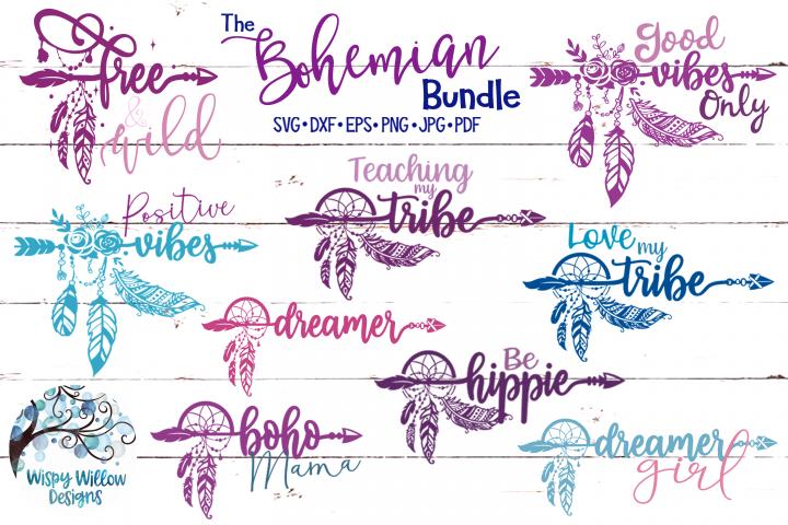 The Bohemian Bundle | Dreamcatcher Arrow Boho SVG Cut Files