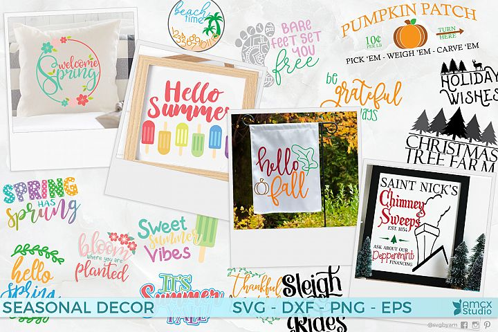 Season Decor Bundle - SVG Files for Every Season