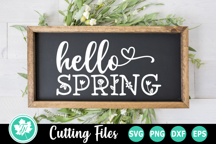 Hello Spring - A Easter SVG Cut File
