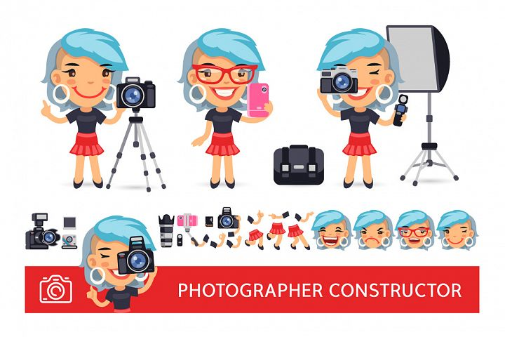 Photographer Woman Construtor