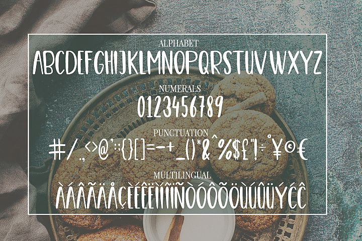 Cute, Casual, Handwritten font COOKIES - Free Font of The Week Design 3